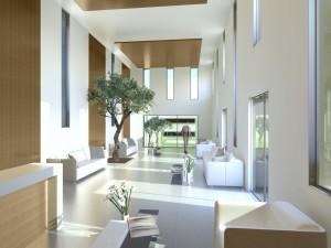 Crematorium Interior 3d rendering