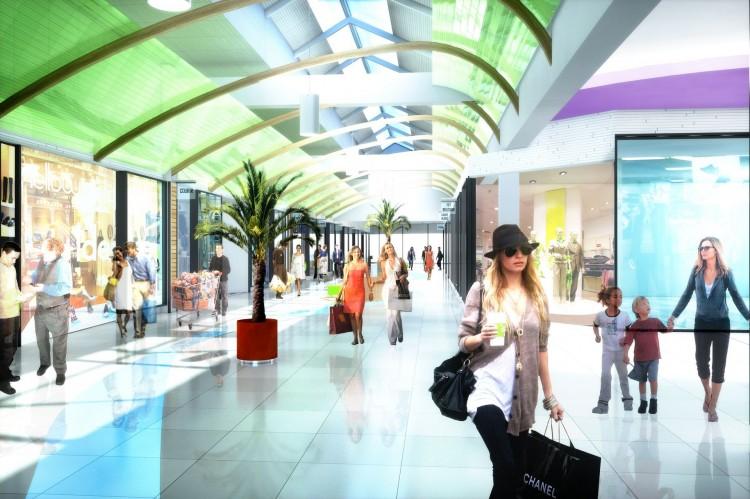 Shopping Center Interior 3d Rendering 1