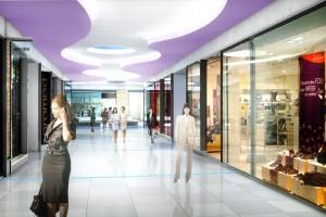 Shopping Center Interior 3d Rendering 3