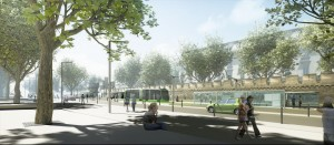 Tramway Avignon 3D rendering Urbanism Architecture