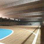 contemporary sport court 3d udk realtime